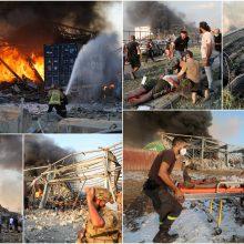 Beirute per niokojantį sprogimą žuvo per 100 žmonių, tūkstančiai sužeisti