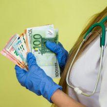 Medikų algoms didinti papildomai skiriama 26,2 mln. eurų