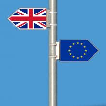 """""""Brexitas"""" be susitarimo gali sukelti recesiją Didžiojoje Britanijoje"""