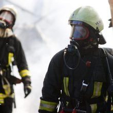 Vilniuje iš degančio buto išgelbėtas žmogus