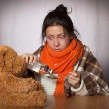 Sergamumas gripu ir peršalimo ligomis – mažesnis nei pernai