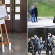 Atsisveikinti su Seimo nariu K. Glavecku susirinko politikai, draugai, buvę studentai