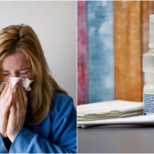 Gripas – kasmetinė našta: patarė, kaip apsisaugoti
