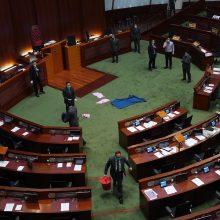Kinijos parlamentas pritarė planui priimti Honkongo saugumo įstatymą