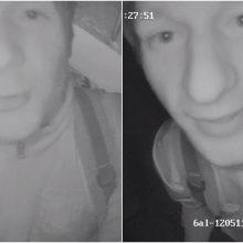 Prašo atpažinti vyrą, įtariamą vaizdo stebėjimo sistemos sugadinimu