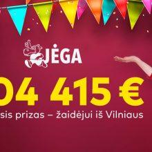 """""""Jėgos"""" 104 400 eurų laimėtojas: vienintelė sėkmės paslaptis – turėti bilietų"""