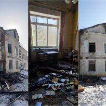 Paaiškėjo gaisro Šlapaberžės dvare priežastis: žmonės pastate gyventi negalės