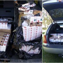 Netoli Druskininkų pasieniečiai aptiko 1750 pakelių kontrabandinių cigarečių