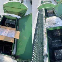 Vagone su trąšomis – 44,5 tūkst. pakelių cigarečių krovinys iš Baltarusijos
