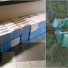 Pasieniečiai sulaikė 10 tūkst. pakelių kontrabandinių cigarečių nešusį vyrą