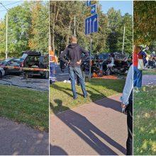 Masinė avarija Vilniuje: nukentėjo trys žmonės ir vienas, įtariama, žuvo