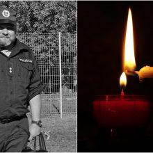 Pareigūnai atiduos pagarbą tarnybos metu Mažeikių rajone žuvusiam kolegai