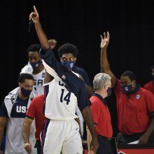 FIBA atrankos rungtynėse – abejonių nepalikusi JAV rinktinės pergalė