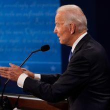 D. Trumpas ir J. Bidenas pasimokė: paskutinieji debatai praėjo be nokauto