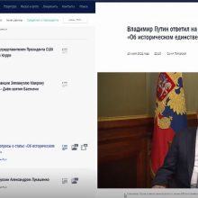 Paskelbtas tekstas nustebino net Rusijos žiniasklaidą: V. Putinas eina A. Hitlerio pėdomis?