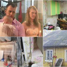 Jauna šeima kabinasi į gyvenimą, bet be žmonių pagalbos išsiversti – sunku