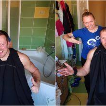 Per karantiną dainininkė V. Tarasovienė išbandė naują profesiją: vyrą gražino namuose