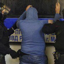 Po Maskvoje įvykusio protesto prieš V. Putiną suimta per 140 asmenų