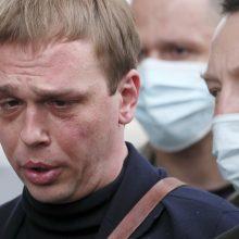 Rusijoje buvusiems policininkams skirtos bausmės už įkalčių prieš žurnalistą klastojimą