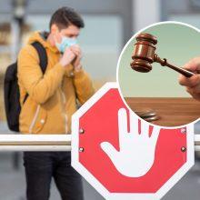 Už COVID-19 pažeidimus – tūkstančiai eurų: nubaustieji jų mokėti nenori – mina teismų slenksčius