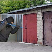 Pranešta apie apvogtą garažą Vilniuje: nuostolis siekia tūkstančius eurų