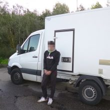 Pasieniečiai sulaikė Vokietijoje vogtą krovininį automobilį