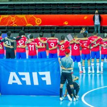 Pasaulio salės futbolo čempionate Lietuvos rinktinei nepavyko trinktelėti durimis