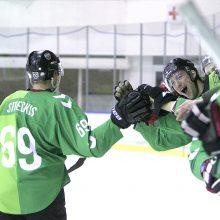 """""""Kaunas Hockey"""" ledo ritulininkai tik po baudinių serijos įveikė """"Geležinį vilką"""""""
