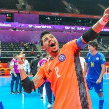Pasaulio salės futbolo čempionato keturioliktoji diena: į pusfinalį iškopė portugalai ir kazachai