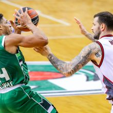 """Po įnirtingos kovos """"Žalgiris"""" nusileido Milano krepšininkams"""