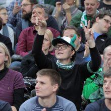 """""""Žalgirio"""" krepšininkai po atkaklios kovos patiesė """"Budučnost"""" ekipą"""