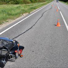 Policija prašo atsiliepti motociklo ir automobilio avarijos liudininkus