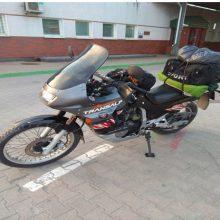 Rusas į Lietuvą važiavo vogtu motociklu