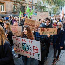 Paauglės iš Švedijos įkvėptas judėjimas – ir Vilniuje: susirinko keli šimtai žmonių
