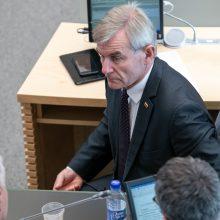 Seimo pirmininkas kviečiasi seniūnus dėl situacijos atstatydinus R. Žemaitaitį
