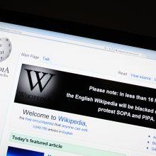 """""""Wikipedia"""" darbą sutrikdė kibernetinė ataka"""