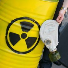 Kaune pažeistas konteineris su radioaktyviomis medžiagomis, vyrui prireikė medikų