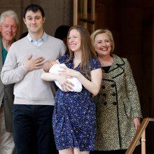 B. ir H. Clintonai vėl taps seneliais: jų dukra Chelsea laukiasi trečio kūdikio