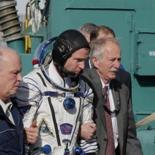 Rusijos erdvėlaivis su astronautais avariniu būdu nusileido Kazachstane
