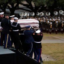 Buvęs JAV prezidentas Dž. H. W. Bušas atgulė amžino poilsio
