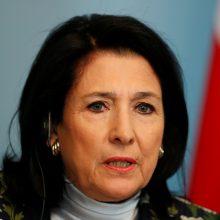 Gruzijos prezidentė Vilniuje pasiūlė aplinkinį kelią link ES – derybas be statuso