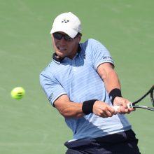"""Tenisininkas R. Berankis pralaimėjo antrajame """"US Open"""" turnyro rate"""