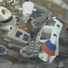 Rusijos robotas androidas FEDOR sėkmingai sugrąžintas į Žemę