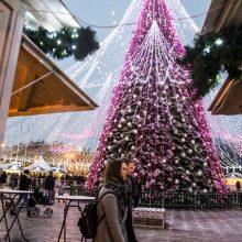 Vilniuje į Kalėdų eglės įžiebimo šventę  –  viešuoju transportu <span style=color:red;>(eismo pokyčiai)</span>