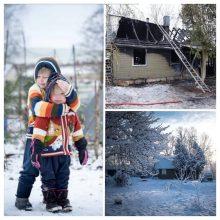 Per gaisrą nukentėjusi šeima: norime tik vieno – galėti apkabinti tris savo vaikus
