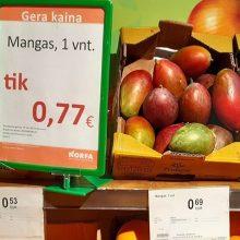 """Parduotuvėje """"Norfa"""" – painiava dėl kainų: per akciją mangas pabrango?"""
