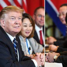 """D. Trumpas gavo naują """"gražų"""" laišką nuo Šiaurės Korėjos lyderio"""