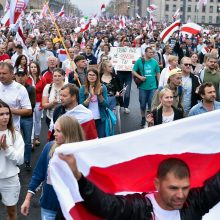 Protestuotojai Baltarusijoje reikalauja A. Lukašenkos atsistatydinimo