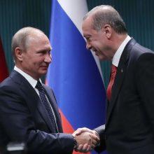 R. T. Erdoganas paprašė V. Putino netrukdyti Turkijai veikti Sirijoje