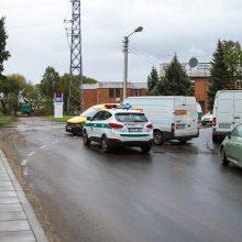 Avarija Aleksote: kelio nepasidalijo lengvasis automobilis ir mikroautobusas